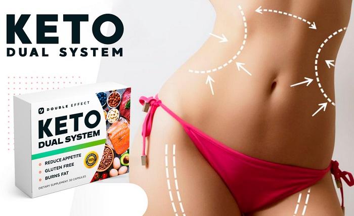 Keto Dual System за отслабване: поддържа кетозата изгаря бързо мазнините енергизира